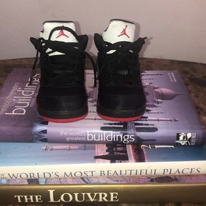 Black and Red Air Jordan 5s size 7